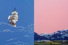 Berbekal benang, 10 lukisan pemandangan ini hasilnya bikin kagum