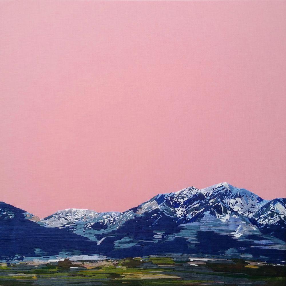 lukisan pemandangan benang warna warni © 2018 brilio.net