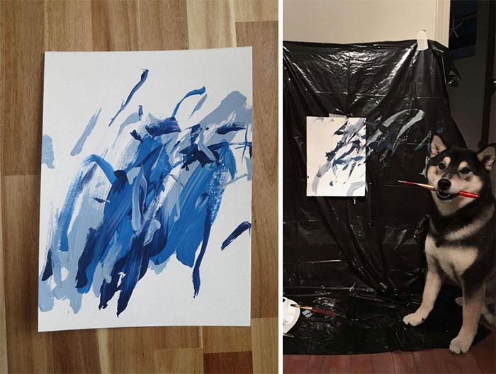 lukisan karya anjing istimewa
