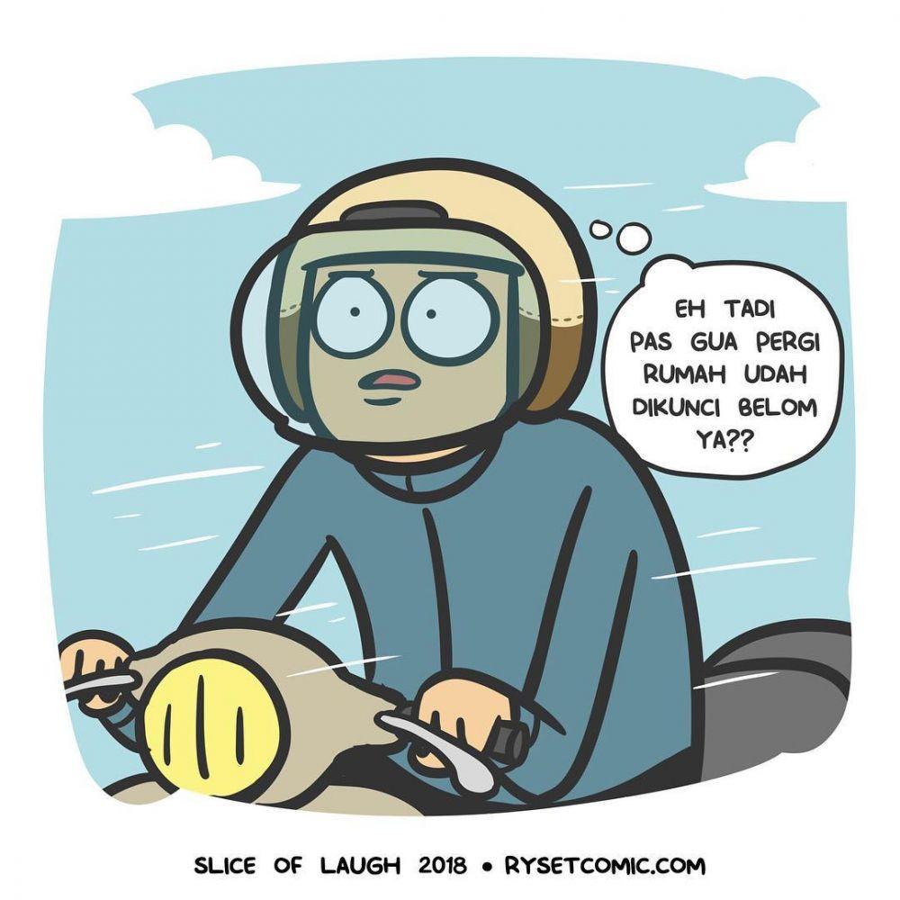 10 Komik Strip Lika Liku Pengendara Motor Ini Kocak