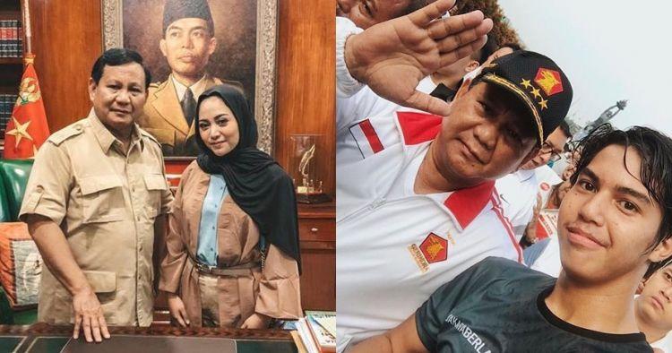 7 Seleb ini foto bareng Prabowo Subianto, gayanya ekspresif