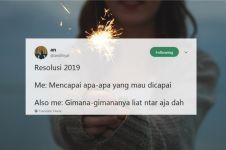 15 Cuitan lucu 'resolusi 2019' ini bikin tersenyum kecut