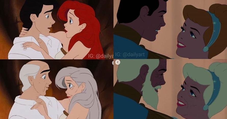 8 Ilustrasi pangeran & putri Disney menua bersama, romantis abis