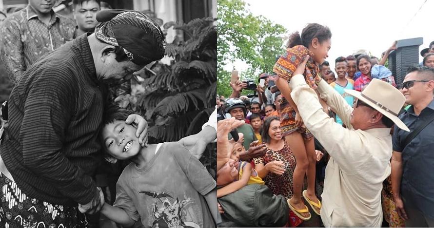 9 Potret kedekatan Prabowo bareng anak kecil