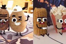 7 Video lucu apabila makanan dan buah hidup, bisa saling makan