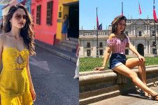 11 Gaya Cinta Laura liburan di Amerika Selatan, bikin susah kedip