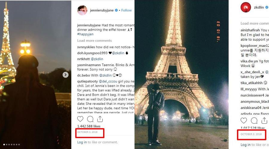 kode Jennie instagram