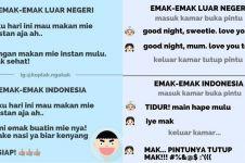8 Chat lucu 'emak Indonesia vs emak luar negeri', bikin nyengir