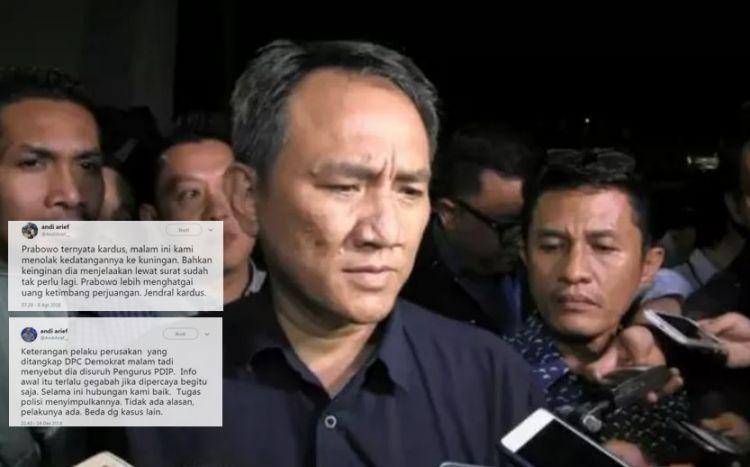 4 Cuitan Andi Arief bikin gaduh, terbaru kontainer surat suara