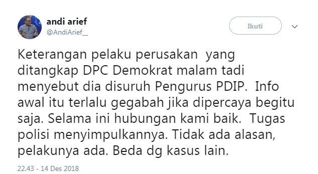 Cuitan Andi Arief  © 2019 brilio.net