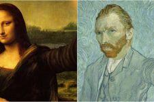 15 Potret keren andai sosok dalam lukisan terkenal bisa selfie