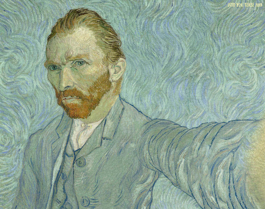 sosok dalam lukisan selfie © Facebook/Dito Von Tease