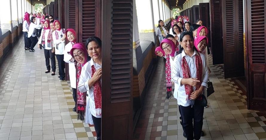 6 Potret seru Iriana Jokowi foto-foto di Lawang Sewu
