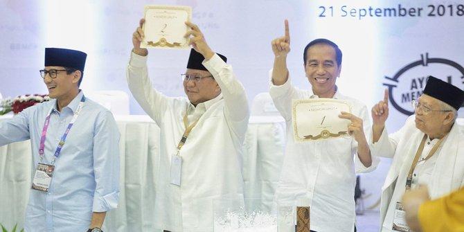 Beda foto Jokowi-Ma'ruf dan Prabowo-Sandi di surat suara pilpres