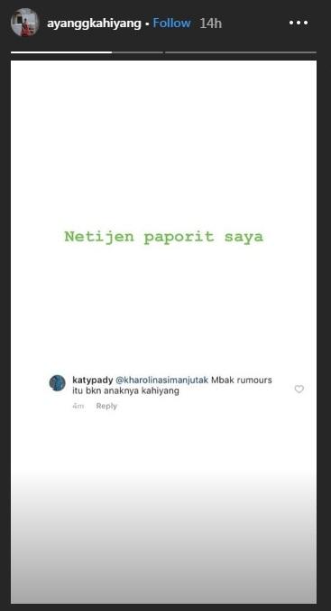 reaksi kahiyang ayu © Instagram/@ayanggkahiyang