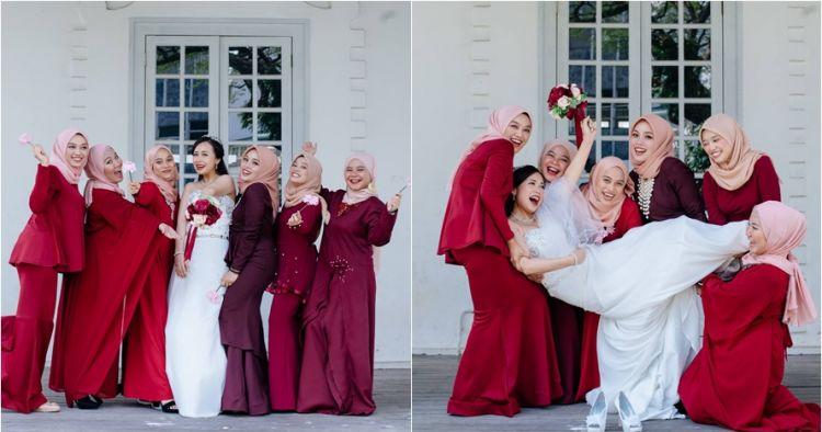 Potret bridesmaid ini bukti beda agama tak rusak persahabatan