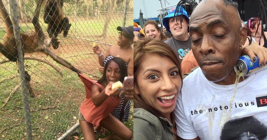 15 Foto lucu orang mau selfie tapi gagal ini apes banget