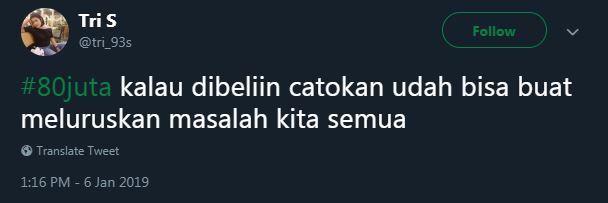 cuitan #80juta © 2019 Twitter