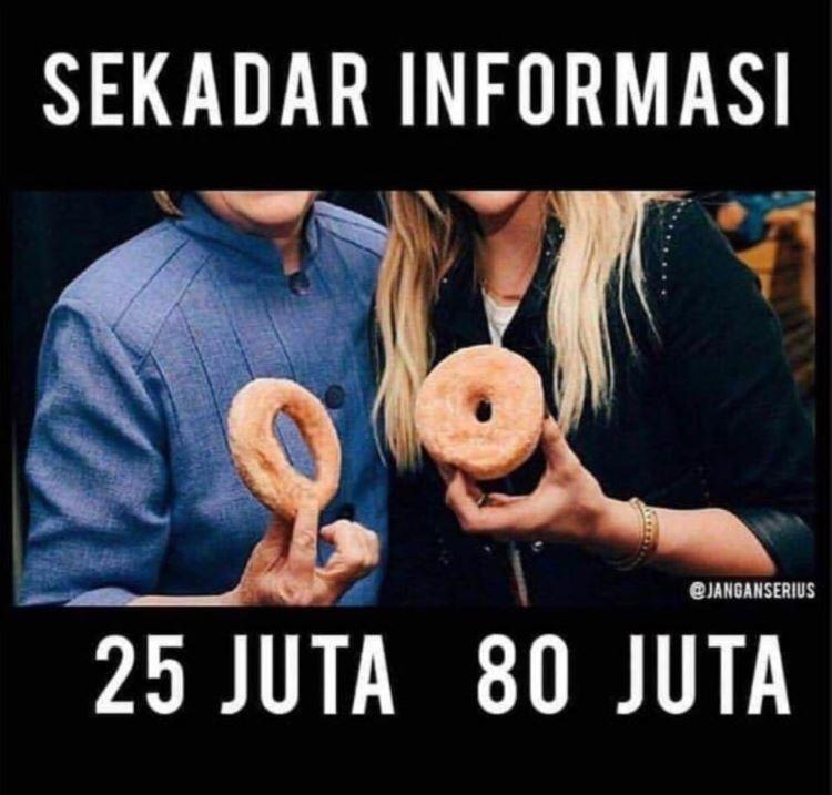 Meme Lucu 80 Juta  © 2019 brilio.net