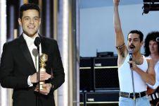 10 Foto Rami Malek jadi Freddie Mercury, layak raih Golden Globe
