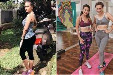 9 Gaya Vanessa Angel saat workout, bikin susah kedip