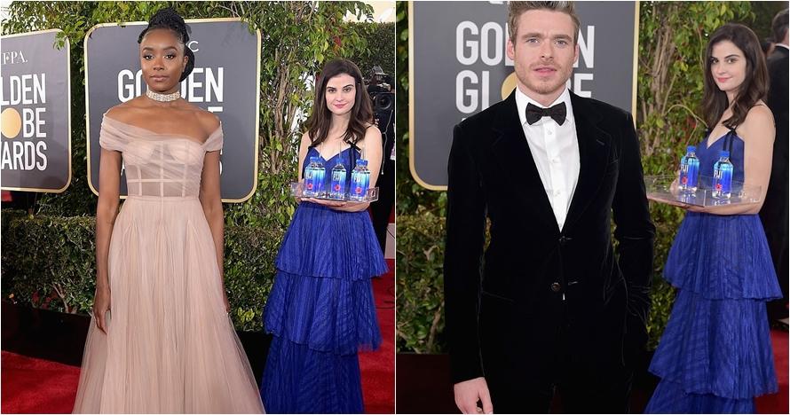10 Momen red carpet Golden Globe, cewek bawa air bikin salfok