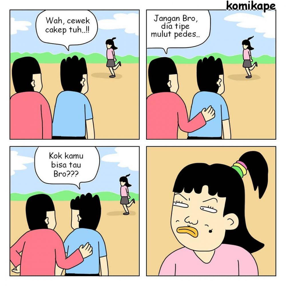komik tipe cewek © 2019 berbagai sumber
