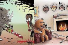 9 Ilustrasi andai binatang memburu manusia, bikin merinding