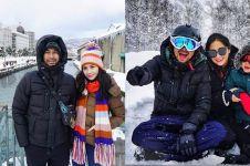 11 Potret keseruan Raffi-Gigi mainan Salju di Jepang, gokil abis
