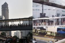 Viral, pemandangan di JPO ini bukti orang Indonesia bisa antre