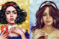 10 Ilustrasi jika artis dunia jadi putri Disney, memesona sekali