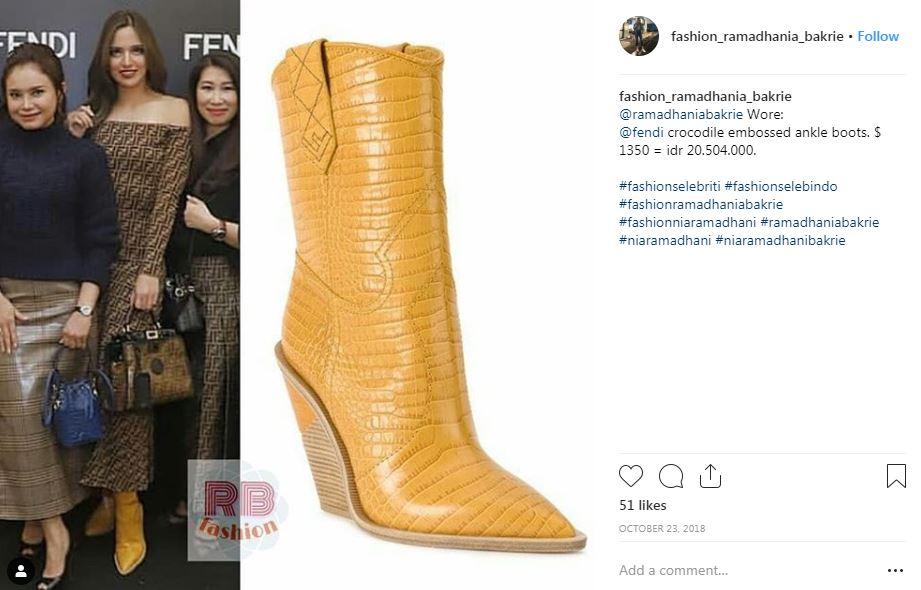 7 Sepatu boot Nia Ramadhani, ada yang seharga Rp 34 juta © 2019 brilio.net