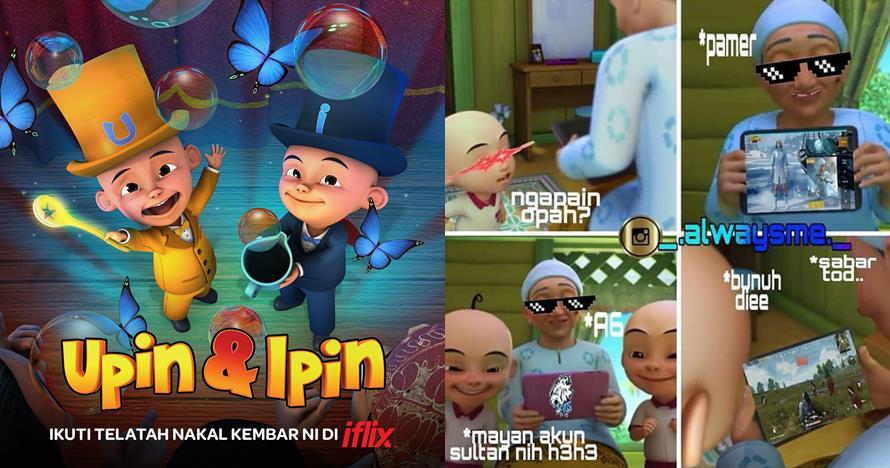 10 Komik strip lucu Upin Ipin main game ini bikin gemes