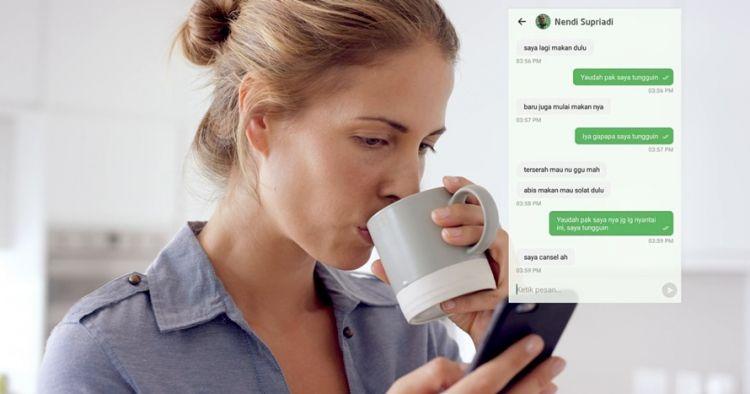 15 Chat lucu pengemudi ojek online minta cancel, ngeselin