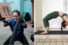 10 Gaya workout Cathy Sharon, energik dan bikin susah kedip