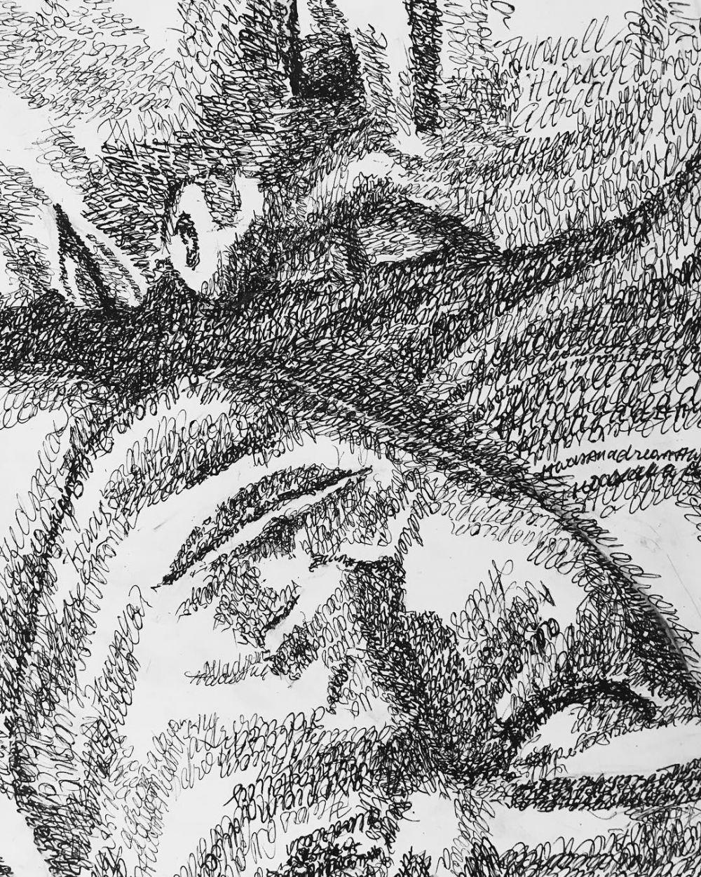Lukisan Tulisan Latin  © 2019 brilio.net