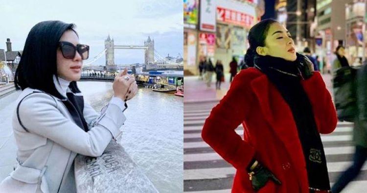 11 Potret Syahrini liburan tanpa kacamata hitam, tampil beda
