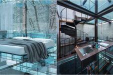10 Desain lantai dari kaca, keren tapi juga bikin was-was