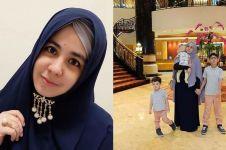 Tak perlihatkan suami, ini 6 momen Risty Tagor asuh tiga anaknya