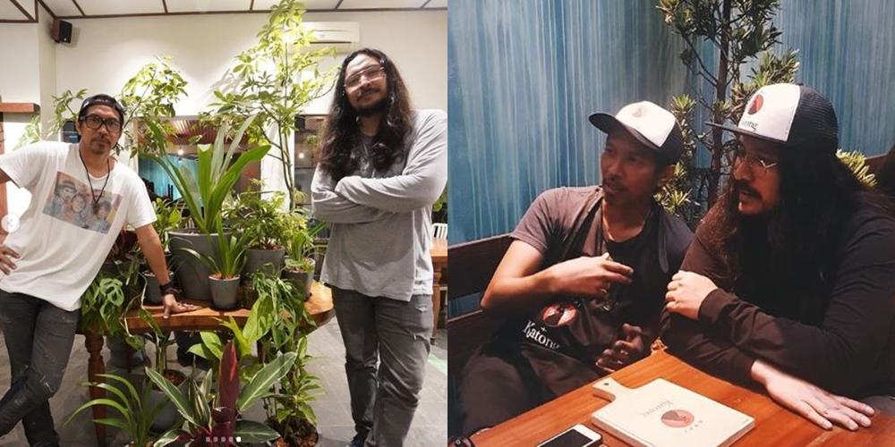 Budaya ngobrol di warung baru Ridho 'Slank' & Marcello Tahitoe