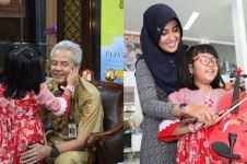 10 Momen Carisa bertemu Ganjar Pranowo, dapat hadiah biola