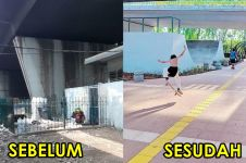 9 Transformasi kece kolong flyover Slipi, dulu penuh sampah