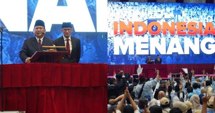 Prabowo pidato kebangsaan, warganet salah fokus sama mikrofon
