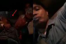 Viral rekaman penumpang taksi online diduga kesurupan kuntilanak