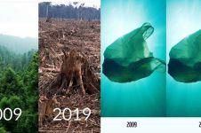 10 Potret transformasi 10 Years Challenge ini malah bikin sedih