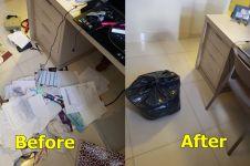 14 Foto before vs after menata peralatan rumah, rapi lebih baik