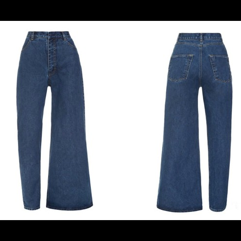 Heboh jeans model baru, asimetris berbentuk skinny dan flare
