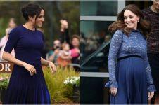 10 Beda gaya fashion Kate Middleton & Meghan Markle saat hamil