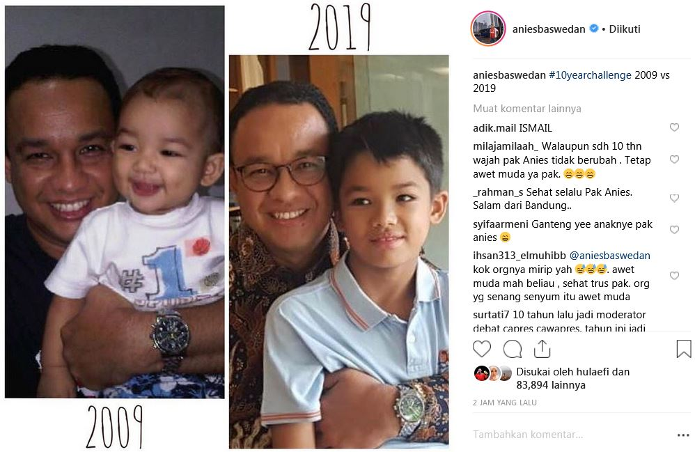 10 year anies baswedan instagram