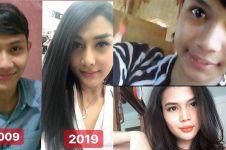 5 Foto transgender di 10 Year Challenge, perubahannya bikin syok